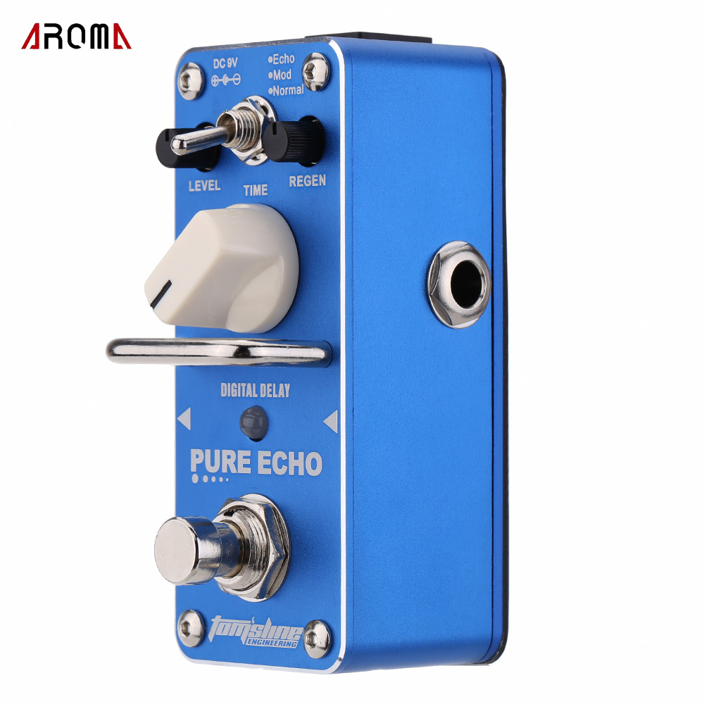 AROMA APE-3 Pure Echo Digital Delay Electric Guitar Effect Pedal Mini Single Effect with True Bypass Guitar Parts(China (Mainland))