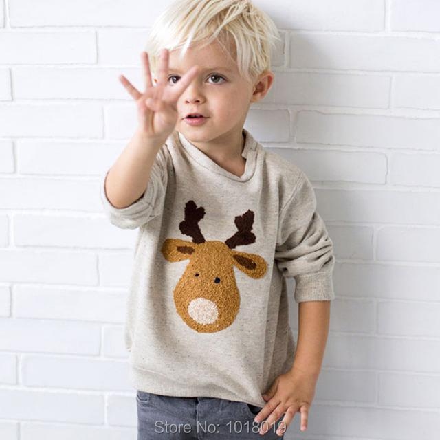 Качество 100% Хлопок Терри Свитера Новый 2016 Марка Мальчиков Одежда Детей Детская Одежда Мальчики футболки, Толстовки Толстовки Мальчиков