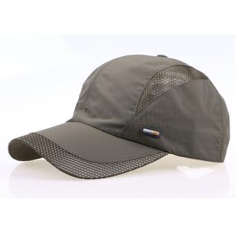 Мужчины и женщины весна snapback быстро сухой открытый летний шляпа солнца кости ...