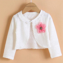 Hot sale fashion thin girls cardigan long-sleeve cotton polyester kid shrug for 2-11T girl clothing spring autumn summer KC-1507