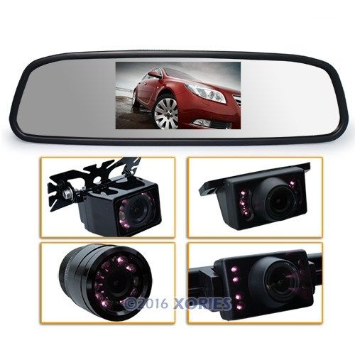 "4.3"" Inch TFT Car LCD Rear View Rearview DVD Mirror Monitor + Backup Camera Cam(China (Mainland))"