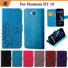 Buy Newest Homtom HT10 Factory Price Luxury Cool Printed Flower 100% Special PU Leather Flip case Strap for $4.28 in AliExpress store