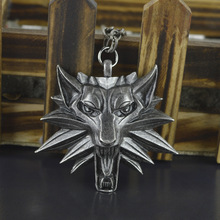 "2015 necklaces & pendants ""Witcher pendant"" The wizard Witcher Wolf head Medal pendant The Witcher necklace Jewelry forWomen"