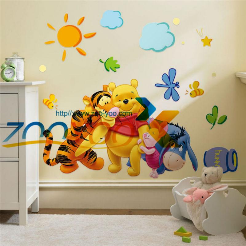 Winnie the pooh y sus amigos pegatinas de pared para for Pegatinas pared ninos