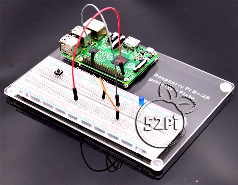 Prototype Mounting Plate Experiental Platform with Transparent Solderless PCB Breadboard for Raspberry Pi 2 Model B  / B+