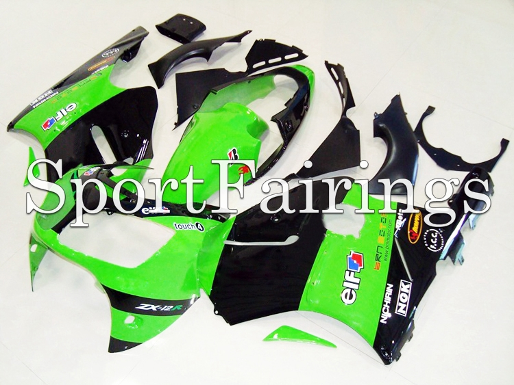 Fairings Fit Kawasaki Ninja ZX-12R ZX12R 2000 2001 00 01 ABS Motorcycle Fairing Kit ABS Bodywork Motorbike Cowling Green(China (Mainland))