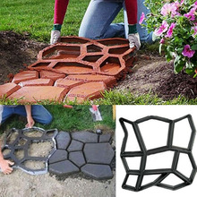 1Pc Garden Park Pavement Paving Mold Concrete Stepping Stone Path Walkway Cement Brick Mould For Garden Decor(China (Mainland))