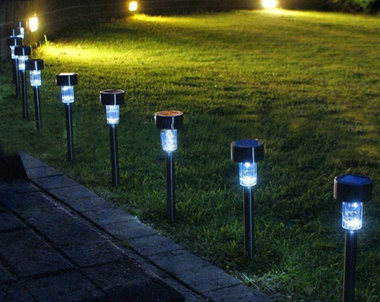 5pcs/lot  Solar powered panel LED Spot Light Landscape Garden Path Lawn lamp Decoration Luminaria Lampada Solar Street Lamps<br><br>Aliexpress