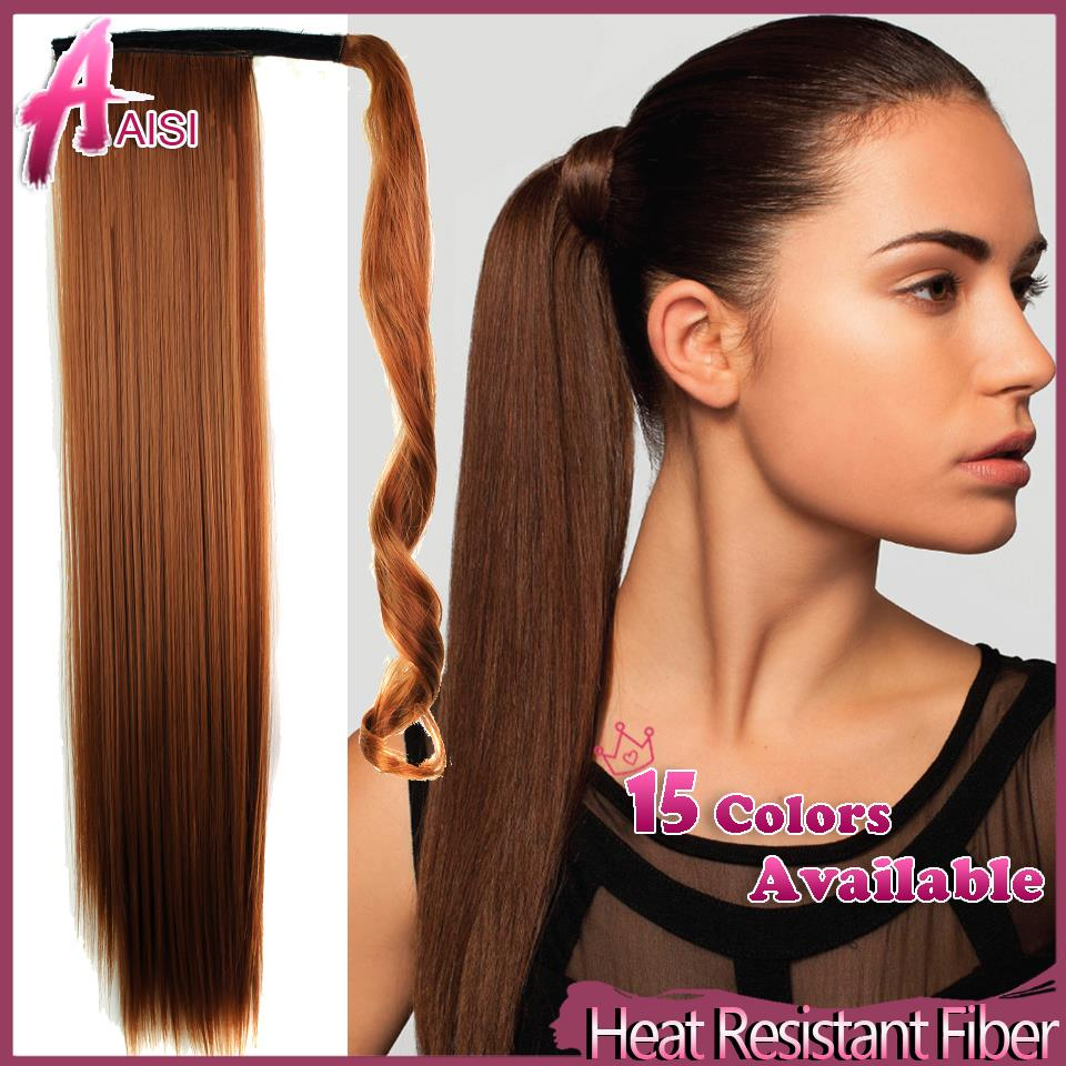 22inch 56cm Synthetic Long Straight Clip In Ribbon Ponytail Hair Extension hairpiece my little pony Tail Hair Pieces 8 Colors(China (Mainland))