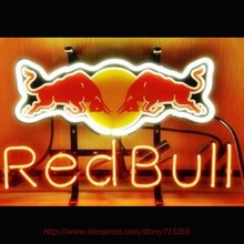 Buy RED Energy Drink Neon lighted Sign ar Neon Bulbs Neon Sign Real Glass Tube Handcrafted Recreation Windows Garage Advertise 17x14 for $103.43 in AliExpress store