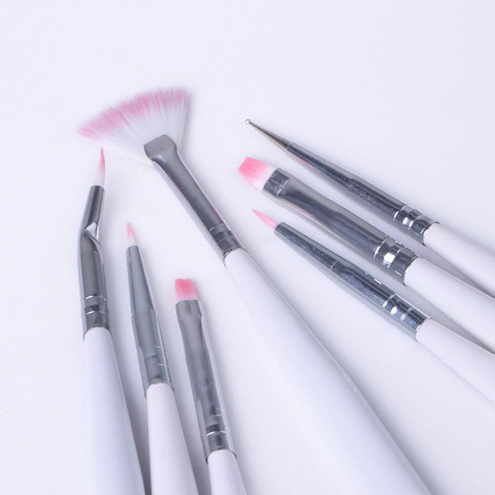 HNM 7Pcs New Nail Painting Brushes UV Gel Acrylic Nail Art Builder Manicure Brush Pen Dotting Painting Acrylic Nail Brush Set(China (Mainland))
