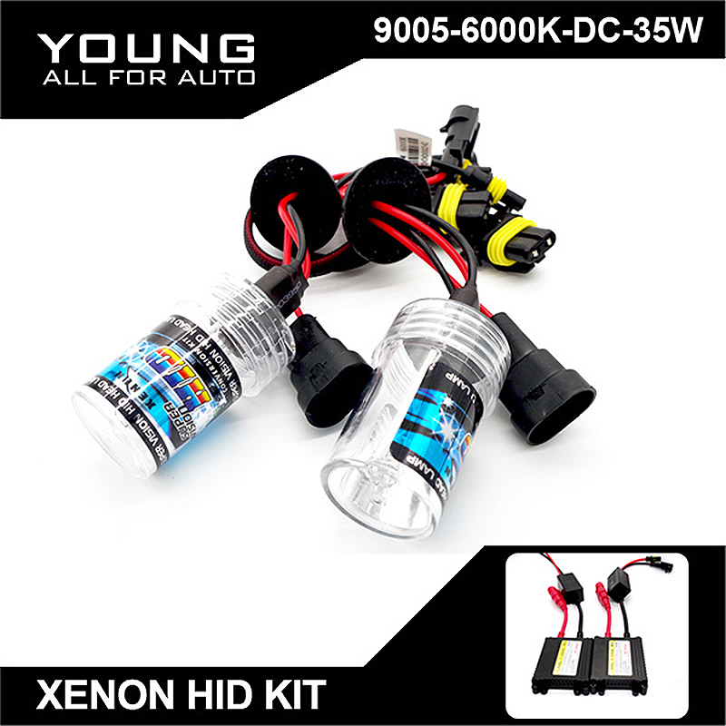 YUMSEEN 9005 HB3 Xenon HID Kit 35W 6000K With DC Ballast Car Headlight Replacement Lamp For Carro Mazda3 VW Passat B5 Audi A4(China (Mainland))