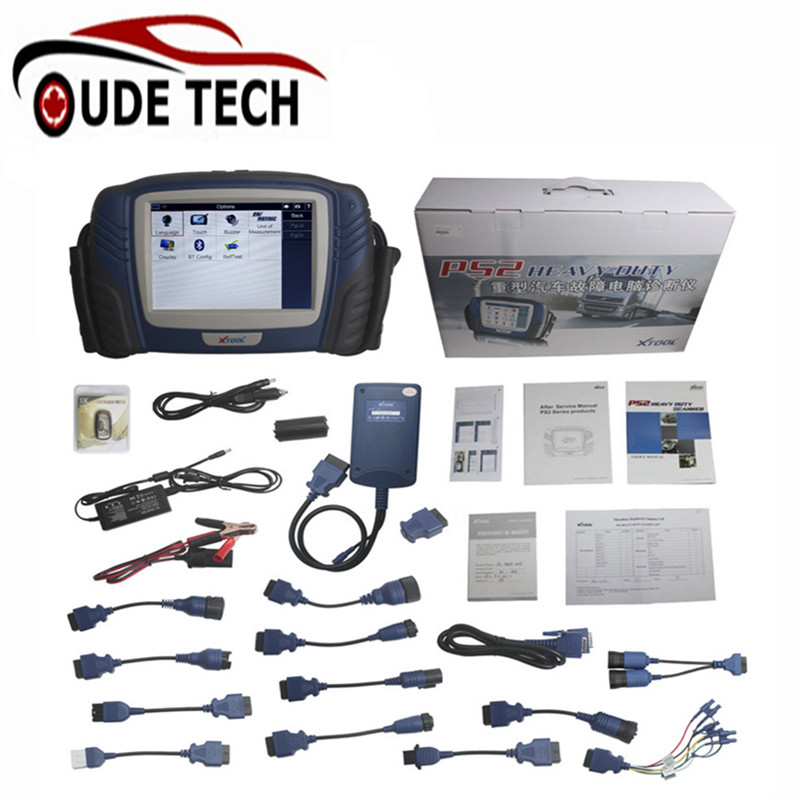 Original Xtool PS2 Professional Automobile Heavy Duty Truck Diagnostic Tool Update Online for Free(China (Mainland))