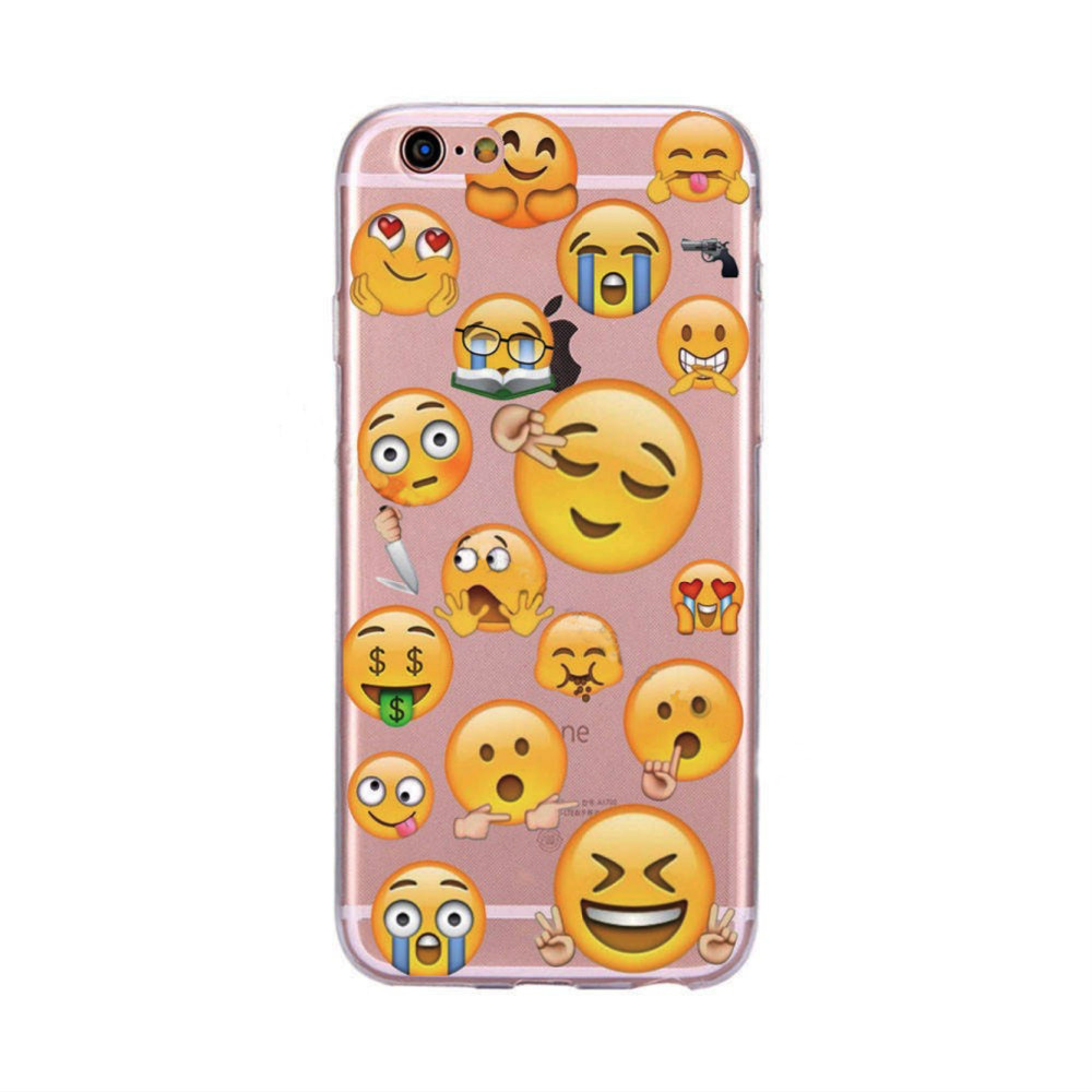 Transparent Silicon Monkey Emoji Cases Back Cover For iphone SE Fundas Clear Celalur Case For iphone 5 5S Capa Phone Case