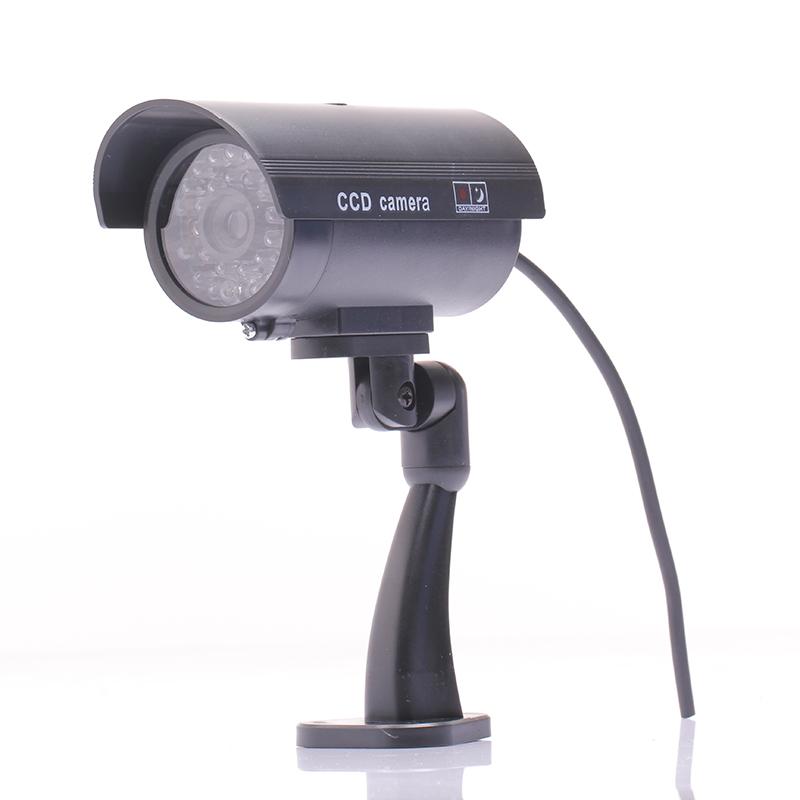 Waterproof Outdoor Indoor Fake Camera Security Dummy CCTV Surveillance Camera Night CAM LED Light Black Color(China (Mainland))