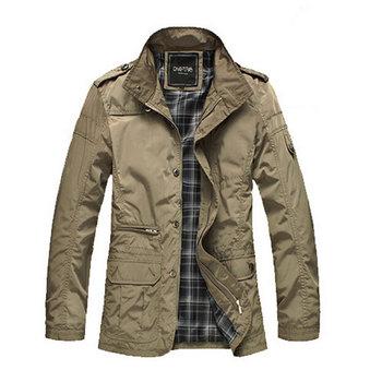 Модный Тонкий Men Jacket Coat Hot Sell Повседневный Wear 4XL Korean Comfort Spring ...