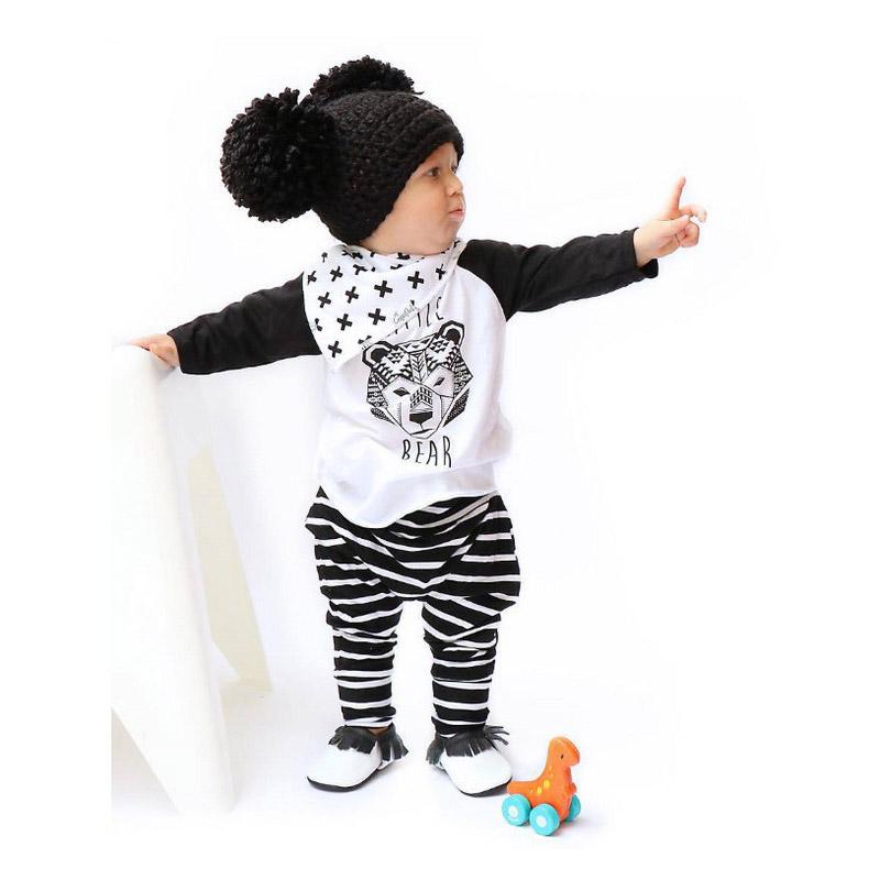 2016 Hot baby clothing infant clothing sets baby boys cotton long-sleeved 2pcs suit baby girl clothes fashion newborn baby set(China (Mainland))