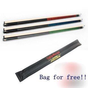 Fury Cue Black 8 Billiard Pool Stick +2 Chalk+Eleusine cloth case/On sale/Primer