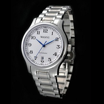- solid stainless steel male watch well known series the spokesman 's mechanical watch(China (Mainland))