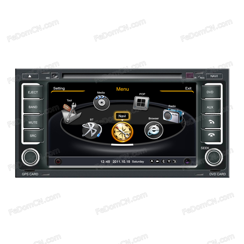 0601 steering wheel 7 inch in dash car dvd player monitor auto audio stereo system. Black Bedroom Furniture Sets. Home Design Ideas