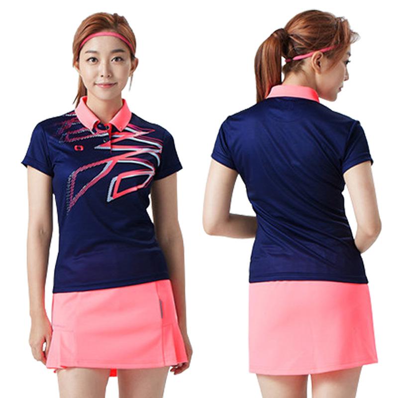 New Polo Ladies Fashion Golf Apparel Summer Ball Golf T-Shirt Wear Short Sleeved POLO Shirt Ventilation Comfortable(China (Mainland))