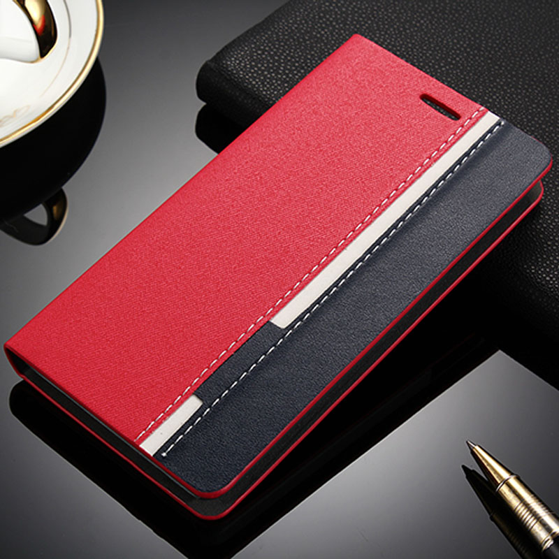 Phone Cases For Lenovo P780 Case Stand PU Flip Leather Cell Cover For Lenovo P780 Case red and black Hit Color Shell Cover Capa(China (Mainland))