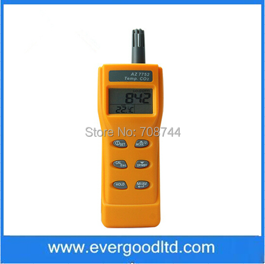 AZ-7752 Handheld CO2 Monitor Tester Meter Indoor Air Quality Meter Gas Analyzer(China (Mainland))