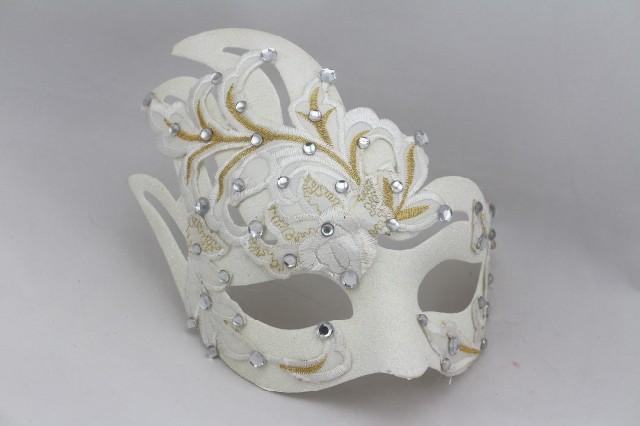 Masquerade Princess Venice mask terror mask Halloween mask white lace diamond simulation mask(China (Mainland))