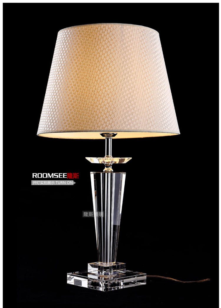 220V ly 2015 K9 Crystal Table Lamps for Bedroom Decor