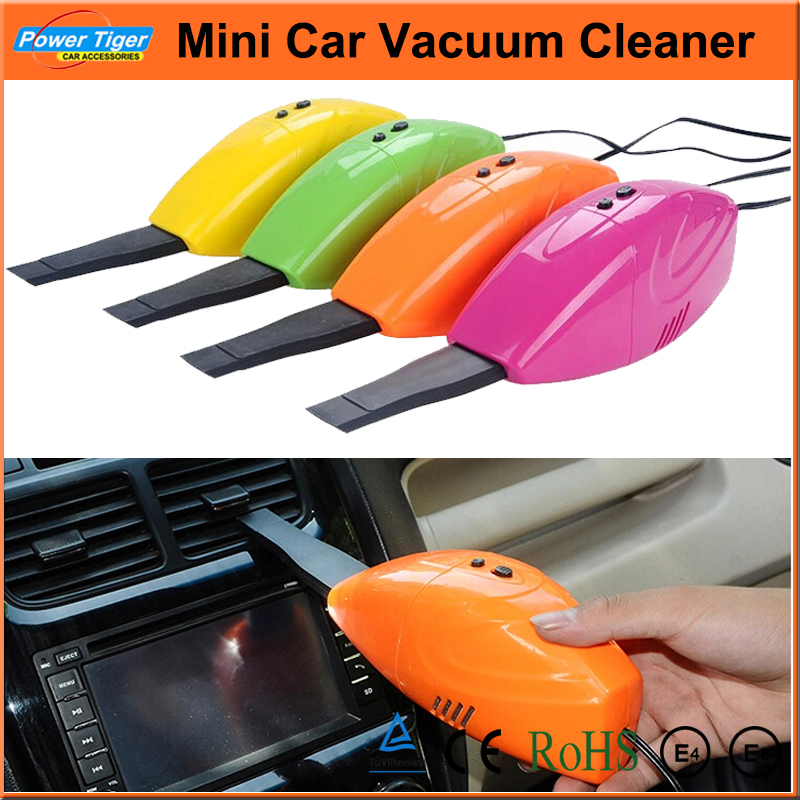 2014 New Car Styling Auto Mini 12V High-Power Portable Car Vacuum Cleaner Rechargeable Auto Car Dust Collector Cleaning Yellow(China (Mainland))