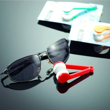 Eyeglasses cleaner portable wiper rubber microfiber cloth hang on key ring novelty items 150pcs/lot wholesale
