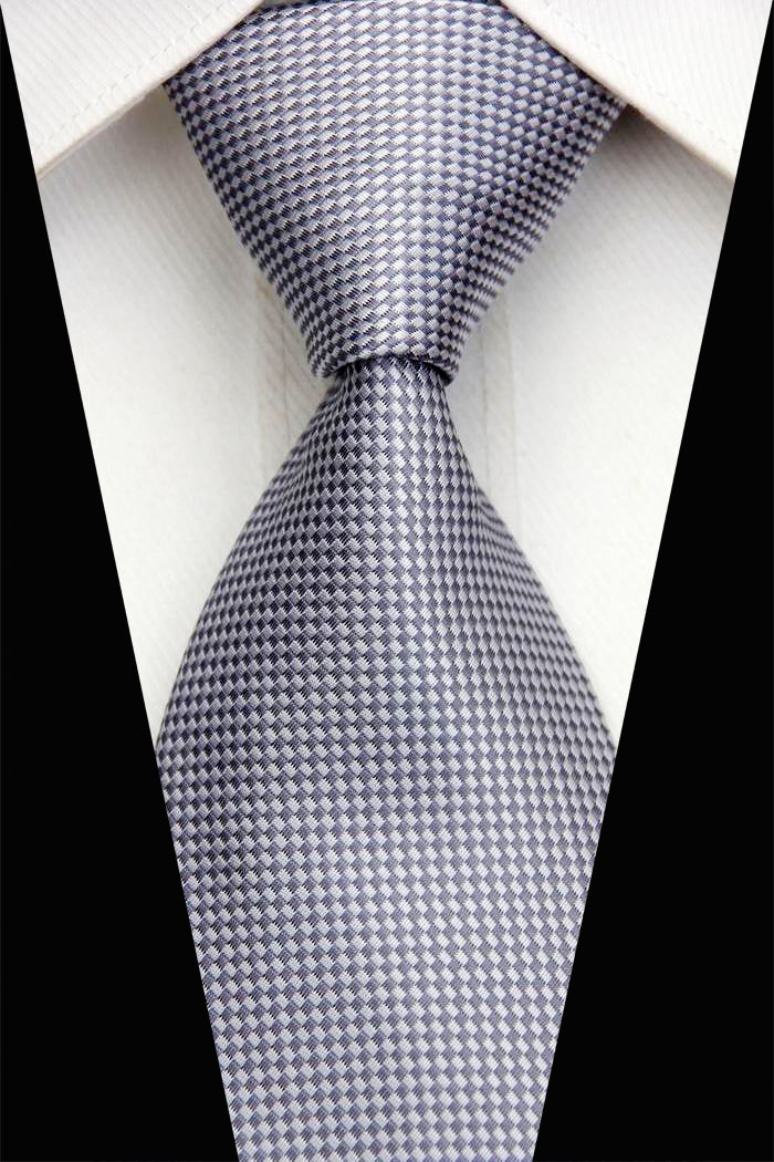 NT0425 Ochre Brown Man's Silk Polyester Smooth Jacquard Woven Classic Tie Luxury Casual Business Wedding Party Necktie - askformore store
