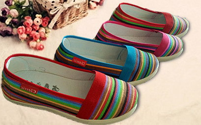 Aliexpress.com Comprar Moda 2014 primavera otoño nuevo estilo del brasil arco iris alpargatas mujeres del ocio zapatos planos de la señora Comfort zapatos