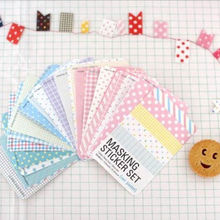 27 Pcs/lot Candy color Print Notebook Album Calendar Memo Message Diary Notes Decor Scrapbook Paper Sticker Free Shipping(China (Mainland))