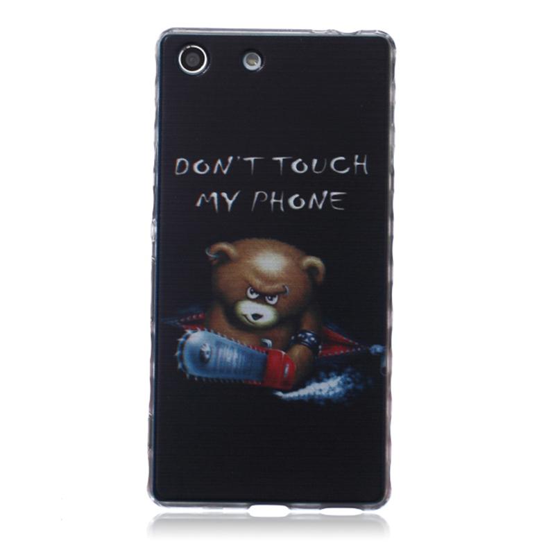 Flower cartoon 3d TPU Cell Phone Protector Case Coque Sony Xperia M5 E5603 E5606 E5653 E5633 Soft Silicon Cover Funda Capa  -  Hefan Technology store