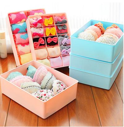 Bra pants socks underwear boxes grid closet sorting storage bin(China (Mainland))