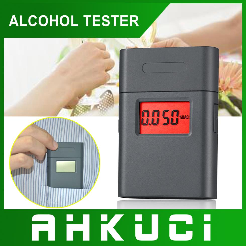 Free shipping! 3-digital LCD Alcohol Tester Clock & red Backlight & 5pcs Mouthpieces dropship wholesale(China (Mainland))