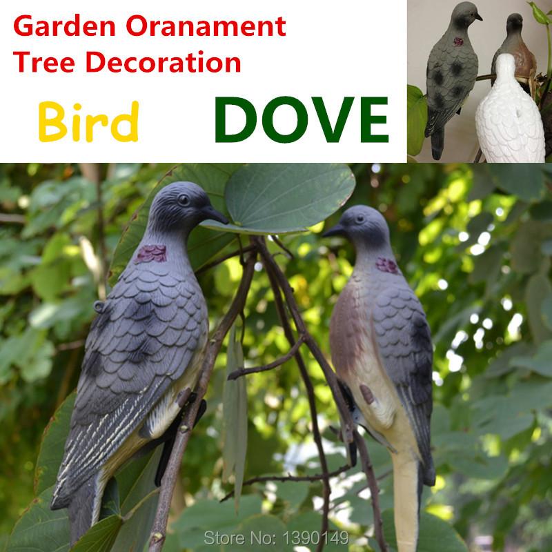 2pc/set Dove Decoy retail Plastic Hunting Decoy Plastic Turtle Dove Bait Sample Prey Hunting Tool Animal Home Garden Decoration(China (Mainland))