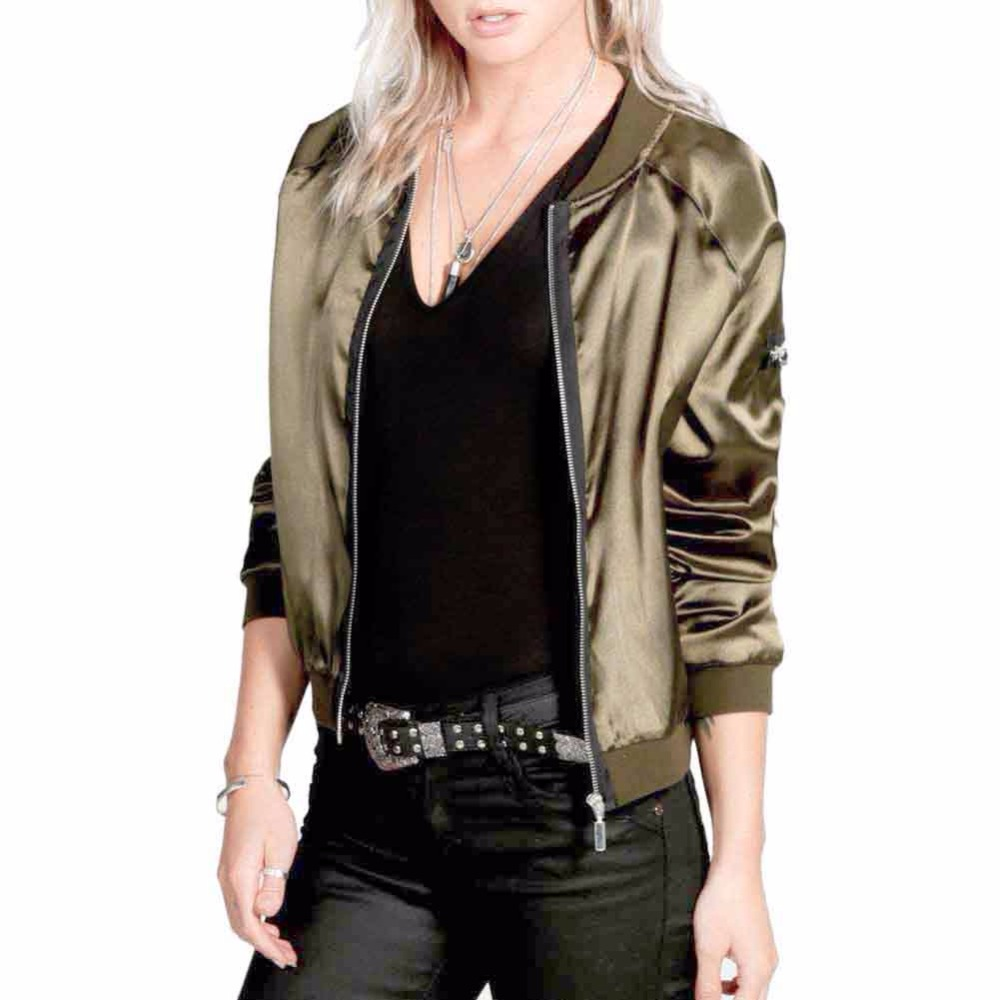 Online Get Cheap Womens Silk Bomber Jackets -Aliexpress.com ...