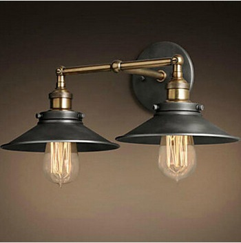 Max 80W Retro Vintage Loft Industrial Wall Lamp With 2 Lights,Bulb Included Edison Wall Sconce American Concise Country Style<br><br>Aliexpress