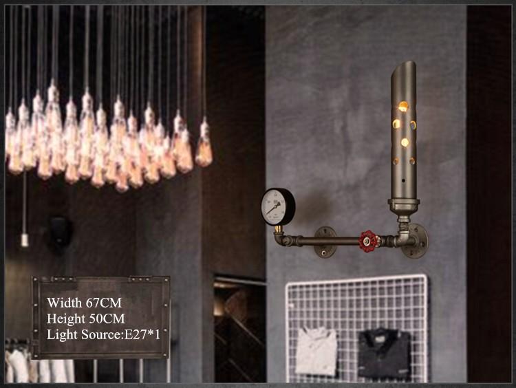 Купить Лофт Ресторан Ретро Гостиная Спальня Прикроватные Бра Американский Бар Творческий Проход Железа Водопровод Настенный Светильник Бесплатная Доставка