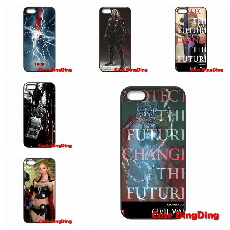 Apple iPod Touch 4 5 6 iPhone 4S 5C SE 6S Plus Moto X1 X2 G1 E1 Razr D1 D3 Thor Movie cute case  -  Phone Cases Ding store