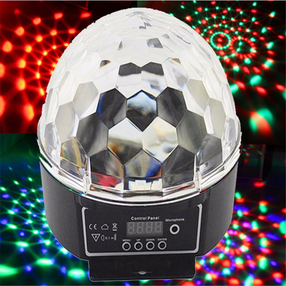 RGB LED Crystal Magic Ball Stage Effect Lighting Lamp Party Disco Club DJ Bar Light Show JG-M02