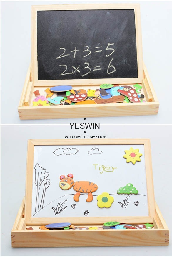 High Quality ! 2014 Kids Educational Toys Kids Wooden Magnetic Puzzle Toys Animal Spells SV011241(China (Mainland))
