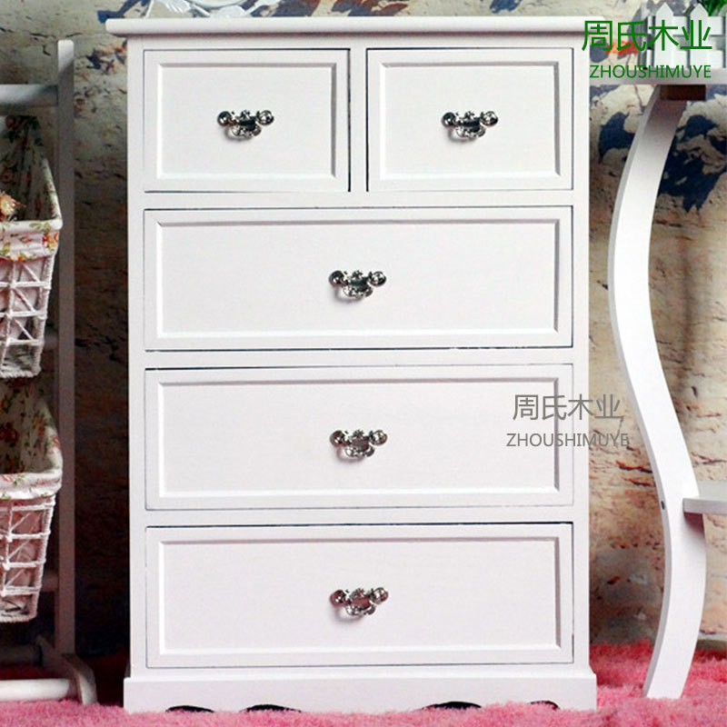 Zhou wood bedroom wood chest of drawers white living room - Bedroom storage cabinets with drawers ...