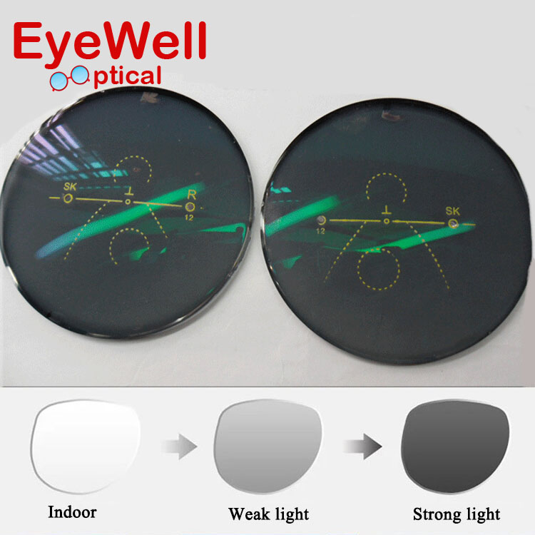 Popular Comfortable 1.61 Photogray Freeform Multi Focal Progressive Photochromic Lens With Lens Cut And Frame Fitting ServiceОдежда и ак�е��уары<br><br><br>Aliexpress