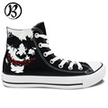 Joker Shoes 2016 New Black Painted Shoes Custom Canvas Shoes Mens Womens Birthday Gifts Hand Painted