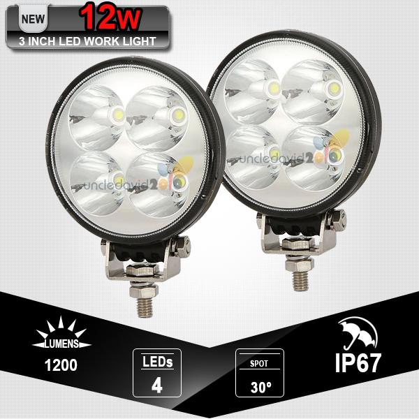 2x 12W Epistar LED Driving Light Spot Beam Offroad for Jeep Ford ATV 4x4 4WD Fog Light Truck Trailer Camper Roof Lamp 12V 24V(China (Mainland))
