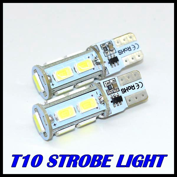 50 pcs/lot T10 9SMD 5730 5630 LED 5MD Car light T10 5730 smd Flash light can be strobe and normal light(China (Mainland))