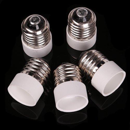 5pcs E27 to E14 Light Bulb Base Adapter Converter Chandelier Socket free shipping